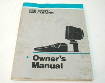 Smith Corona Owner's Manual, 1988