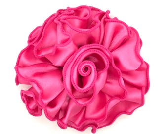Blooming Delight Snap-In Dog Bows® Collar Attachment - Hot Pink - Dog Accessories, Pet Accessories, Dog Collar Flower, Pet Attire