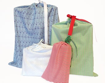 Environmentally Friendly Holiday Gift BagsEarth-Friendly, Set of 4, Reusable