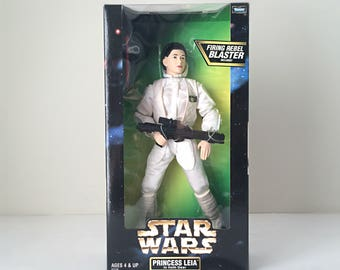 "Carrie Fisher, Princess Leia Doll, Star Wars 12"" Figure - Star Wars Doll, Star Wars Toy, Original Trilogy, Empire Strikes Back - New in Box"