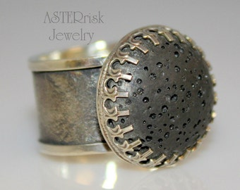 Ring - Sterling Silver Lava Diffuser Jewelry