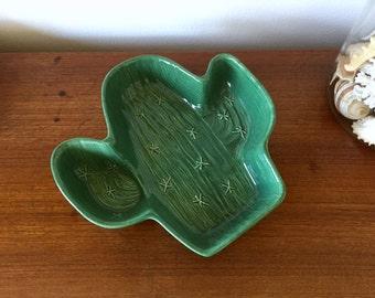 Cactus Serving Dish - Saguaro Cactus Party Platter - Desert Cactus Ceramic Dish - Saguaro Cactus Large Plate - Southwestern Boho Decor Plate