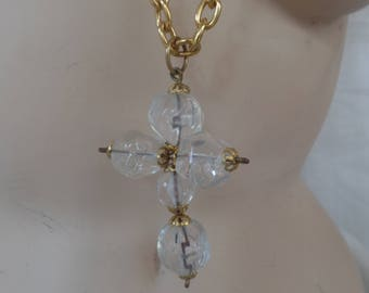 Vintage Necklace with Cross Pendant
