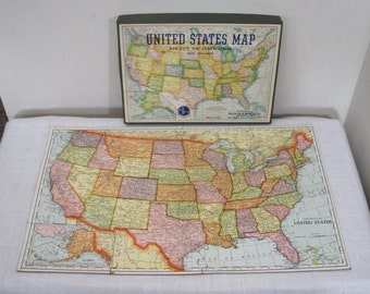 Vintage Selchow & Righter United States Puzzle