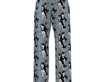 Siberian Husky Pajama bottoms for women or men