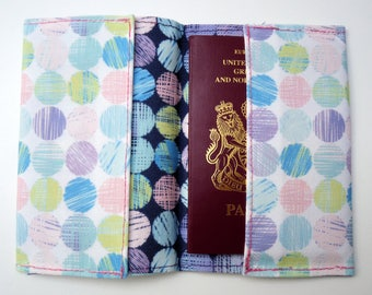 Pastel Scribble Dots Printed Eco Passport Cover