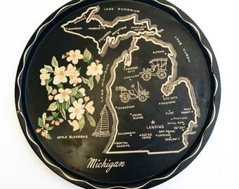 Vintage Michigan Serving Tray