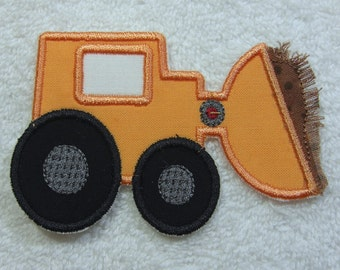 Front Loader Construction Truck Fabric Embroidered Iron on Applique Patch Ready to Ship