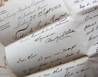 1903 Antique Handwritten  Letter