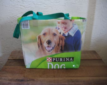 Recycled Upcycled Reusable Medium Dog Food Tote Bag Market Purse
