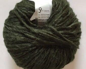 Peru Alpaca Bulky Yarn Dark Pine Green -  #47707 Ice Merino Wool Alpaca Acrylic 50g 65y