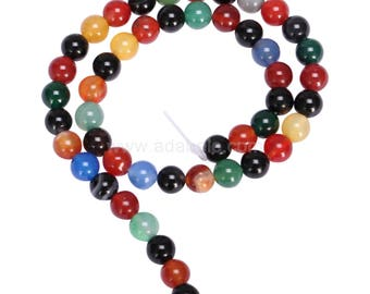 "You Pick AAA Natural Rainbow Agate 4mm 6mm 8mm 10mm Gemstone Round Loose Beads 15.5"" (1 strand) #GC3"