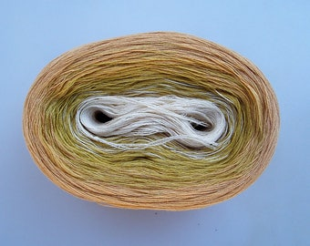 SWEET CREAM - Color Changing Cotton yarn   480 yards/100 gr   Fingering Weight