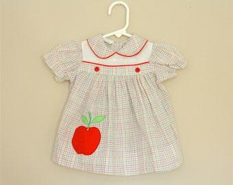 Apple A Day Dress- 12 months