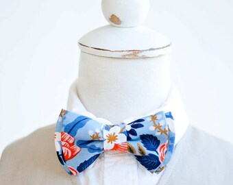 Bow Tie, Bow Ties, Boys Bow Ties, Baby Bow Ties, Bowtie, Bowties, Ring Bearer, Ties, Rifle Paper Co - Birch Floral In Periwinkle