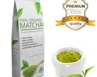 Value Matcha Organic Matcha Green Tea Powder - Culinary Grade A, Pure, No fillers FREE USA Shipping