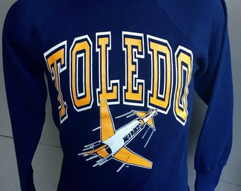 Toledo University Rockets Ohio vintage sweatshirt 1980s - size small