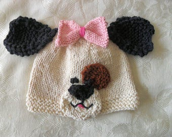 Knitted Baby Hat Knitting Knit Baby Hat Knitted Baby Hats Knitted Dog  Baby Beanie Animal Baby Hat Cotton Knitted Baby Hat Dog Baby Hat