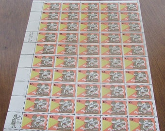 1977 Talking Pictures Stamps - 50th Anniversary - 13 Cent US Postage Stamp - Sheet of 50 Vintage Unused Stamps