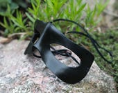 Black Super Hero Leather Masquerade Mask