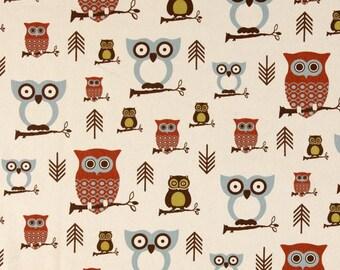 Decorator Fabric, Premier Prints, Hooty Owl Village,  Two Remnants