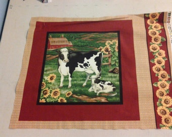 Cow and Sunflower panel, fabric 247811
