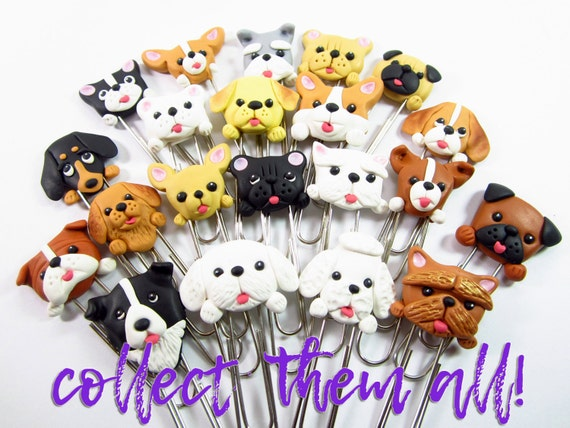 Items similar to dozen dog planner clips dog lover gifts for Unusual dog gifts