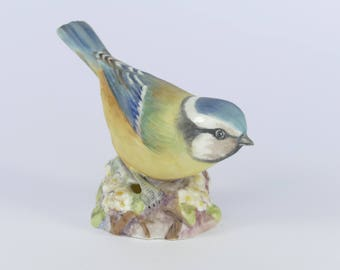 Royal WORCESTER Bone China Bird Model - BLUE TIT 3199