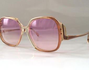 SALE 50% OFF - 80s Vintage Deadstock Sunglasses Art Deco Design Frame