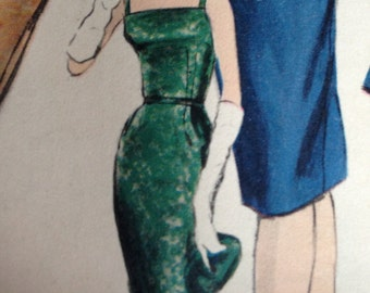 Vintage Vogue Special Design Dress Pattern 60s 1960s Vogue 4128 Square or Round Neck Jacket 34 bust size 14