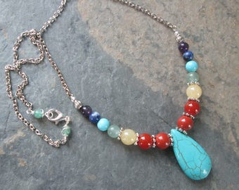 Chakra Necklace - Chakra Gemstones - Metaphysical/Spiritual/Chakra Jewelry