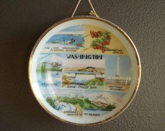 Tiny Washington State - Ity Bitty Vintage Souvenir Plate - WA Plate