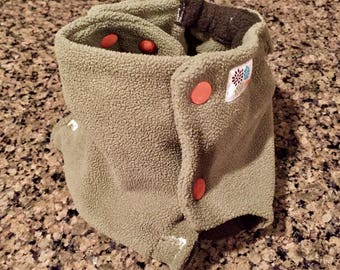 Fleece Diaper Cover in Sage
