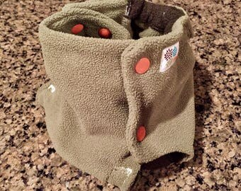 CLEARANCE!Fleece Diaper Cover in Sage