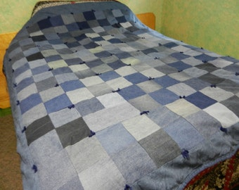 Blue Jean Twin Size Quilt- Price Reduction