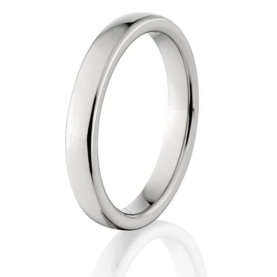 New 3mm Comfort Fit, Custom Titanium Ring: 3HRP