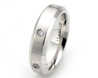 Yellow Gold Plated Titanium Wedding Band Brushed Domed