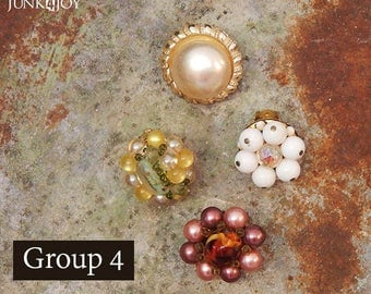 Vintage Earring Refrigerator Magnets Clips Group 4