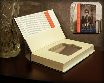 Hollow Book Safe & Flask - Bob Dylan in America - Secret Book Safe