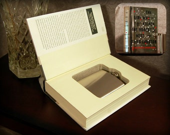 Hollow Book Safe with Flask (The Girl Who Kicked the Hornet's Nest)