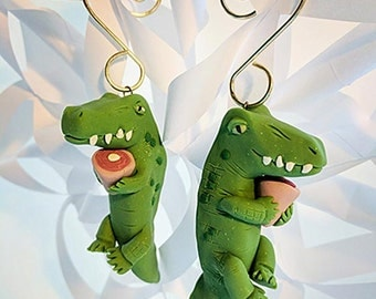 Crocodile with Ham - Ornament