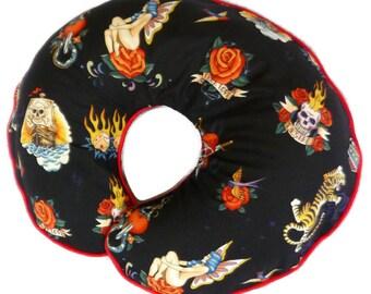 Boppy Pillow Slipcover Black Tattoo Skin by Alexander Henry Nursing Pillow Cover Breastfeeding Pillow Cover Biker Baby Punk Rock Baby Decor