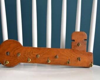 Vintage Wooden Key Organizer