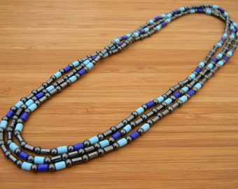 NEW! Hematite and Glass Bead Layering Necklace