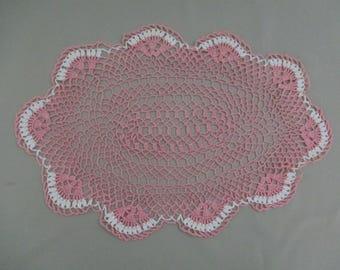 Vintage Lace Oval Crochet Doily