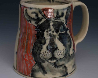 Bunny Mug with Sparkle Coffee Mug Silver