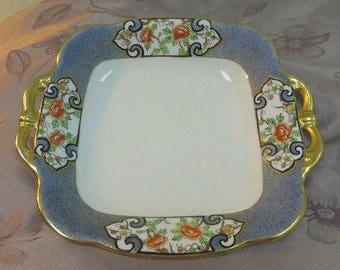 Noritake Morimura Bowl Dish, Handpainted circa 1914 Green Wreath