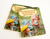 Vintage 1980s Childrens Book / The Happy World of Strawberry Shortcake by Micael Vaccaro 1981 VGC Hc Board Book / Kenner Doll Collectible