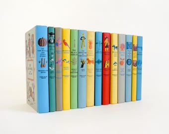 Vintage 1950s Childrens Book / 50s Junior Deluxe Editions - The Classic Stories Set of 14 Hc VGC / Enduring Childrens Stories, Boy Themed