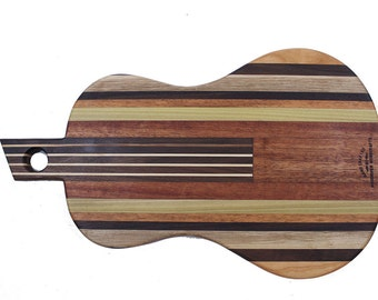 Small Guitar - Acoustic Guitar cutting board made to order